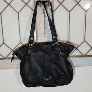 The sak black leather purse shoulder bag